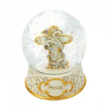 Peaceful Cross Snow Globe