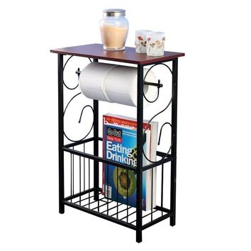 Bathroom Table Top Toilet Paper Tissue Holder Organizer Magazine Storage Racks