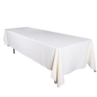 Ivory 60 x 102 Rectangle Polyester Tablecloths