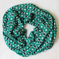 green polka scarf,scarf,infinity scarf, scarf, scarves, long scarf, loop scarf, gift