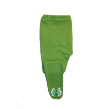 Baby Girl Lime Green Tights with Polka Dot Bows