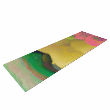 "Nina May ""Pastoral"" Green Yellow Yoga Mat"