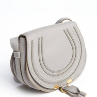 Cashmere Grey Lambskin Leather Marcie Small Crossbody Bag