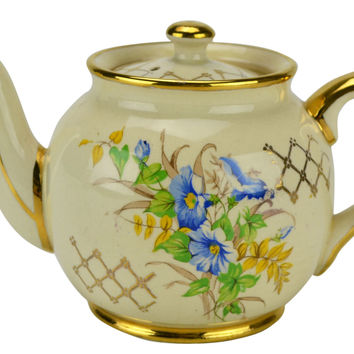 Small Garden Teapot by Sadler Vintage English 1950s