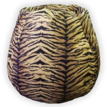 MicroFibres Tiger Bean Bag Chair