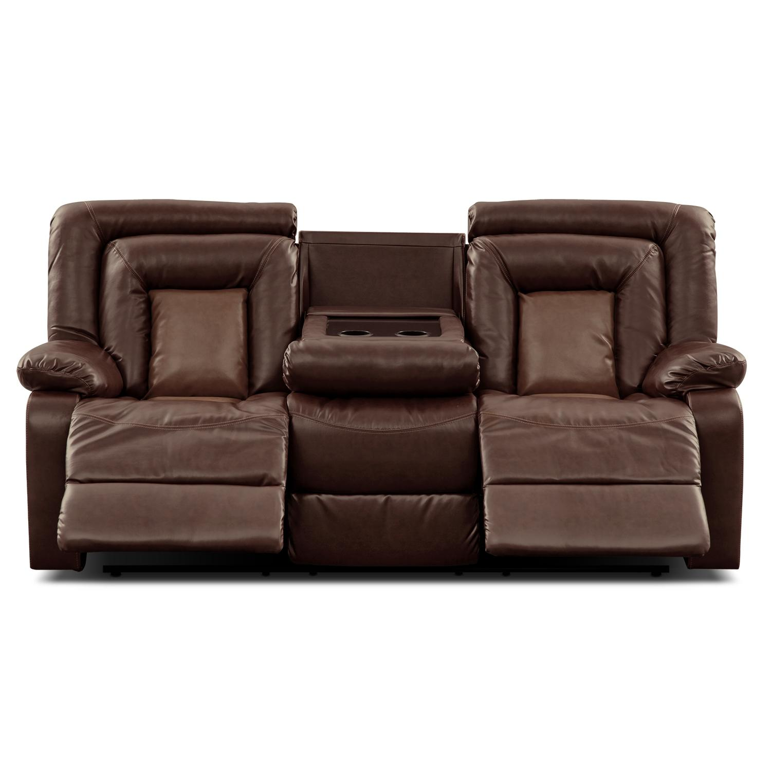 Cobra Leather Dual Reclining Sofa Value From Valuecityfurniture