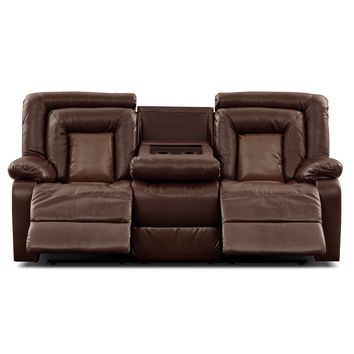 Cobra Leather Dual Reclining Sofa - Value City Furniture