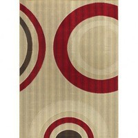Chandra Rugs Machine-made Indoor / Outdoor Torino TOR-9002 Rug - TOR-9002 - White and Tan Rugs - Area Rugs by Color - Area Rugs