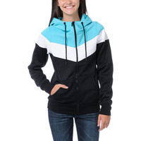 Empyre Girl Insignia Black & Teal Full Zip Tech Fleece
