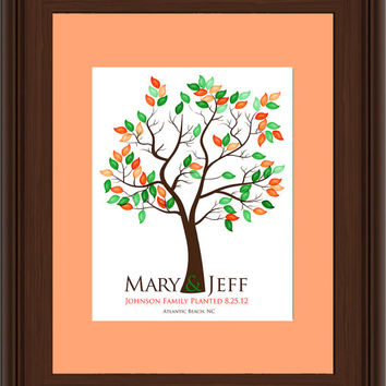 WEDDING FINGERPRINT GIFT Tree, Thumbprint Tree, Love Birds, wedding tree guest book, Stamp Tree guest book, 20x30 num.112