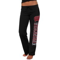 Wisconsin Badgers Ladies Frosh Fleece Sweatpants - Black