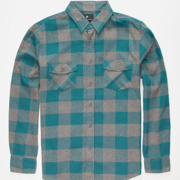 Shouthouse Cast Mens Flannel Shirt Teal Blue  In Sizes