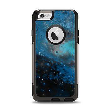 The Blue and Teal Painted Universe Apple iPhone 6 Otterbox Commuter Case Skin Set