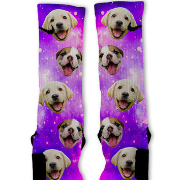 Puppy Power Galaxy Customized Nike Elite Socks! Fast Shipping!!