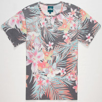 Elwood Svrf Hawaiian Tropics Mens T-Shirt Black  In Sizes
