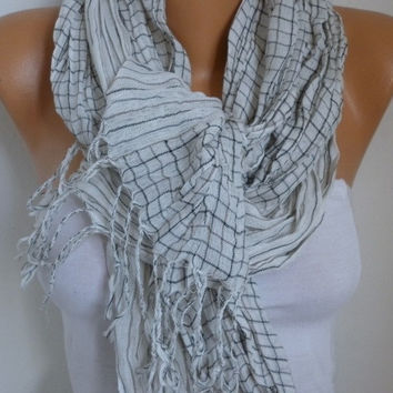 Linen Scarf Spring Summer Scarf Shawl Oversized Wrap Bridesmaid Gift Ideas For Her Women Fashion Accessories  Christmas in July