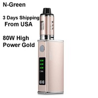 Gold 80W Tank Vape Electronic Vape E Pen Cigarettes Starter Kit 2200mAh Battery