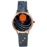 Trendy Designer's New Arrival Good Price Gift Great Deal Stylish Awesome Strong Character Vintage Denim Ladies Casual Watch [6047456897]