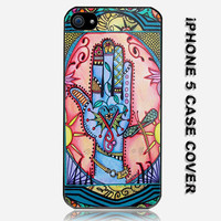 Hand Mandala Singleton Hippie Art Custom iPhone 5 Case Cover