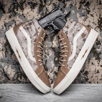 LMFON Trendsetter Vans Syndicate SK8 Hi Defcon Camouflage Canvas Sneakers Sport Shoes