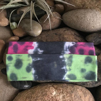 Yoga headband - Fitness - hand dyed - Running - Softball Headband- Sports - Stocking Suffers - bohemian headband - Workout headband - Gypsy