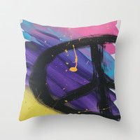 Peace Throw Pillow by TooShai Studios