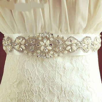 Crystal Bridal Belts for Wedding Dresses Rhinestone Wedding Belts And Sashes for Wedding Accessories