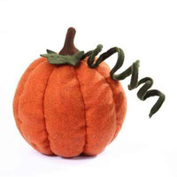 Heather Felt Pumpkin, Long Tendril, Pumpkin