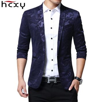 Brand Blazer Men fashion Casual Slim Blazers 2017 Spring New Arrival Fashion Party Single Breasted Men Suit Jacket Plus Size