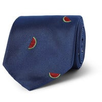 Richard James - Watermelon-Embroidered Silk Tie | MR PORTER