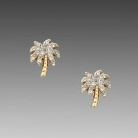 Juicy Couture Palm Tree Stud Earring in Gold from REVOLVEclothing.com