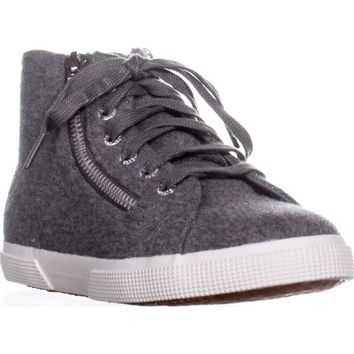 Superga 2224 Polywool High-Top Sneakers, Grey, 10 US / 41.5 EU