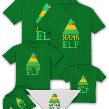 Elf Family Christmas Shirts: Green - Adult, Child, Toddler, Infant, Dog by TooLoud