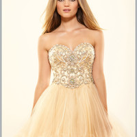 Embellished Bodice Sweetheart Neckline Short Prom Dress By Terani p3011