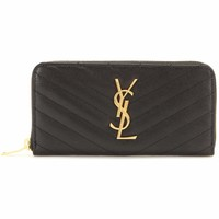 Monogram leather wallet