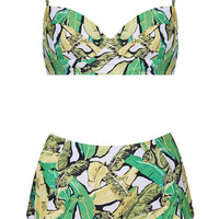 Green Leaf Longline Bikini - New In This Week - New In - Topshop