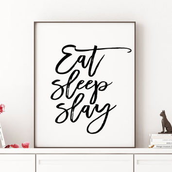 Beyonce formation Slay typographic art print home decor song lyrics print Beyoncé Quote Queen B Girl Room Decor I woke up like this Beyonce