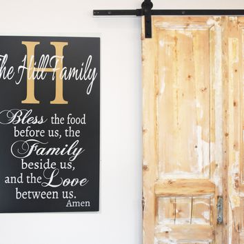 Bless The Food Wood Sign Dining Room Wall Decor