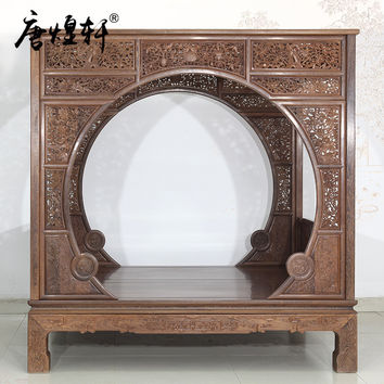 Tang Huang Xuan mahogany furniture, wenge wood canopy bed bedroom couch combination of classical Chinese concubine bed