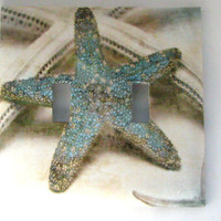 Double Light Switch Cover - Light Switch Plate Starfish