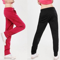 Hot Fashion Womens Casual Drawstring Sweatpant Yoga Sports Harem Pants Trousers = 1932616324