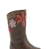 Girl's Stride Rite 'Lilianna' Floral Embroidered Boot,
