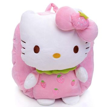 Gift for baby 1pc 30cm cartoon fruit hello kitty plush backpacks infant super cute candy shoulder bag princess children toy