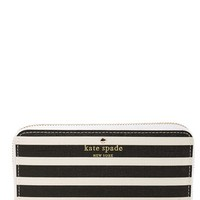 Women's kate spade new york 'fairmount square - jordie' zip around stripe wallet