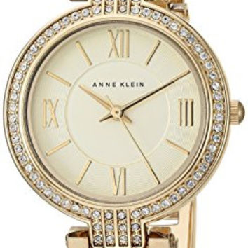 Anne Klein Women's Quartz Metal and Resin Dress Watch, Color:Beige (Model: AK/2894CHHN)