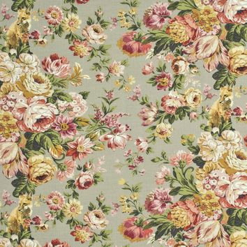 Mulberry Fabric FD261.K103 Fox Hollow Natural/Rose