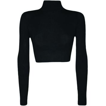 Maxima Cropped Turtleneck
