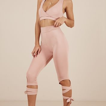 Got The Moves Crop Top in dusty pink Produced By SHOWPO