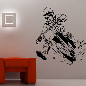 Dirtbike Rider MX X Games Version 110 Decal Sticker Wall Motocross