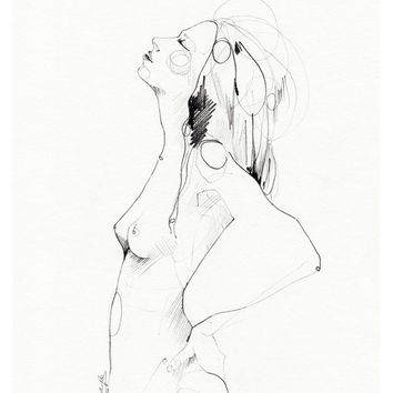 Limited Edition giclée print from original  PENCIL DRAWING // 10